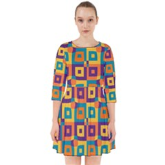 Artwork By Patrick Squares 4 Smock Dress