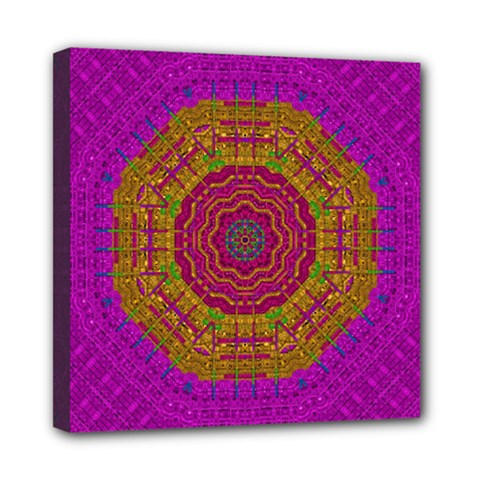 Summer Sun Shine In A Sunshine Mandala Mini Canvas 8  X 8  by pepitasart