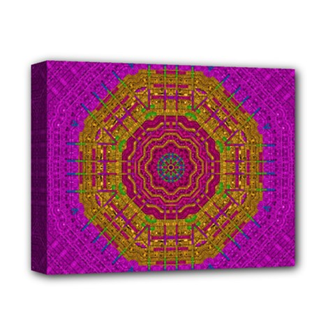 Summer Sun Shine In A Sunshine Mandala Deluxe Canvas 14  X 11  by pepitasart