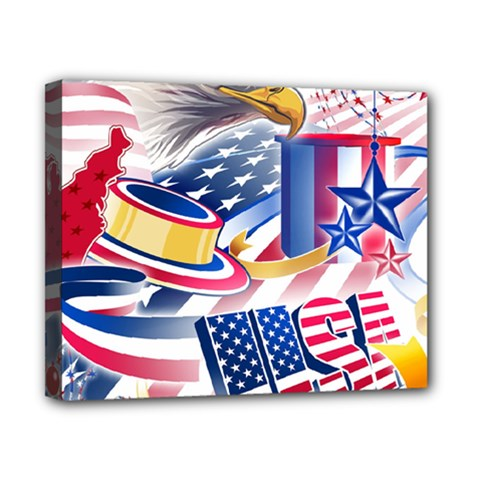 United States Of America Usa  Images Independence Day Canvas 10  X 8  by Sapixe