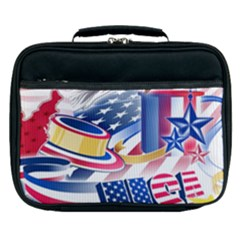 United States Of America Usa  Images Independence Day Lunch Bag by Sapixe