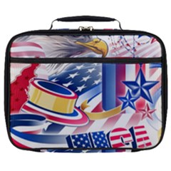 United States Of America Usa  Images Independence Day Full Print Lunch Bag by Sapixe
