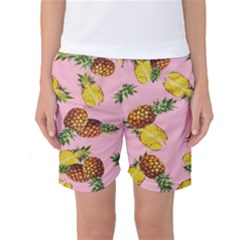 Pineapple Print Women s Basketball Shorts