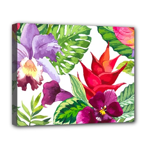 Vector Pattern Tropical Deluxe Canvas 20  X 16   by Sapixe