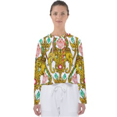 Traditional Thai Style Painting Women s Slouchy Sweat