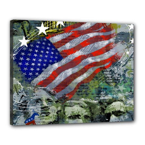 Usa United States Of America Images Independence Day Canvas 20  X 16  by Sapixe