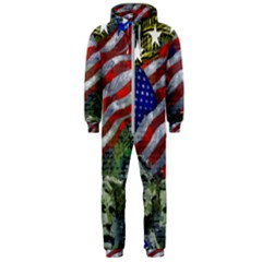 Usa United States Of America Images Independence Day Hooded Jumpsuit (men)