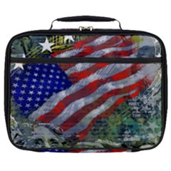 Usa United States Of America Images Independence Day Full Print Lunch Bag by Sapixe