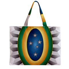 Seal Of The Brazilian Army Zipper Medium Tote Bag by abbeyz71