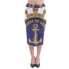 Seal Of Brazilian Navy  Midi Pencil Skirt by abbeyz71