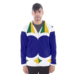 Roundel Of Brazilian Air Force Hooded Wind Breaker (men) by abbeyz71