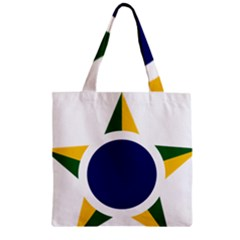 Roundel Of Brazilian Air Force Zipper Grocery Tote Bag by abbeyz71