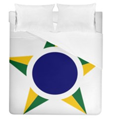 Roundel Of Brazilian Air Force Duvet Cover (queen Size) by abbeyz71