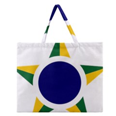 Roundel Of Brazilian Air Force Zipper Large Tote Bag by abbeyz71