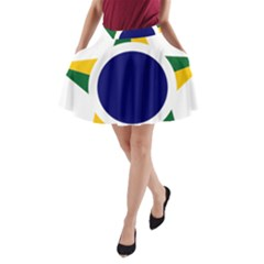 Roundel Of Brazilian Air Force A Line Pocket Skirt by abbeyz71