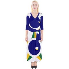 Roundel Of Brazilian Air Force Quarter Sleeve Wrap Maxi Dress by abbeyz71