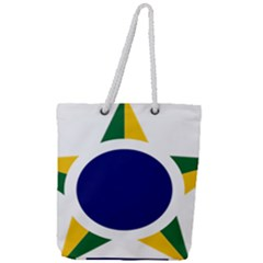 Roundel Of Brazilian Air Force Full Print Rope Handle Tote (large) by abbeyz71