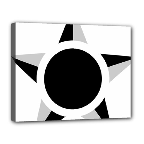 Roundel Of Brazilian Air Force (low Visibility) Canvas 14  X 11  by abbeyz71