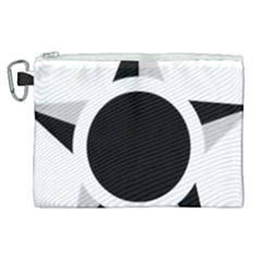 Roundel Of Brazilian Air Force (low Visibility) Canvas Cosmetic Bag (xl) by abbeyz71