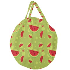 Watermelon Fruit Patterns Giant Round Zipper Tote by Sapixe