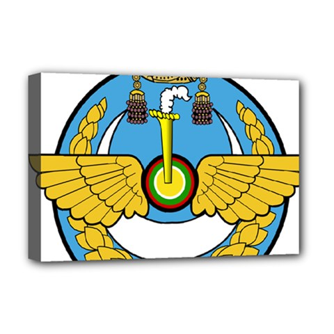 Emblem Of Royal Brunei Air Force Deluxe Canvas 18  X 12   by abbeyz71