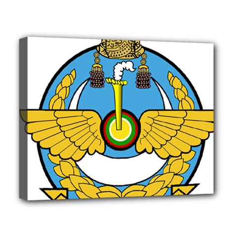 Emblem Of Royal Brunei Air Force Deluxe Canvas 20  X 16   by abbeyz71