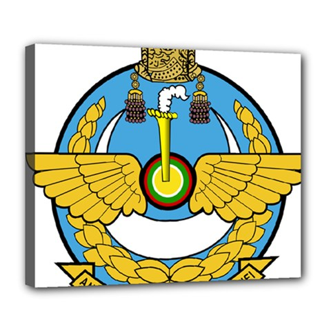 Emblem Of Royal Brunei Air Force Deluxe Canvas 24  X 20   by abbeyz71