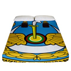 Emblem Of Royal Brunei Air Force Fitted Sheet (king Size) by abbeyz71