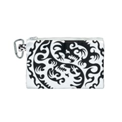 Ying Yang Tattoo Canvas Cosmetic Bag (small) by Sapixe