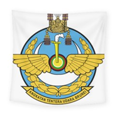 Emblem Of Royal Brunei Air Force Square Tapestry (large) by abbeyz71
