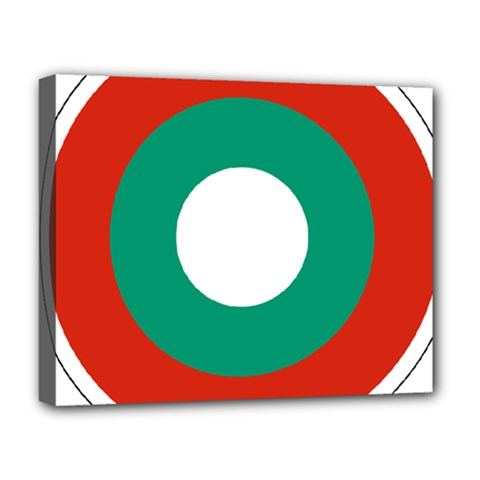Bulgarian Air Force Roundel Deluxe Canvas 20  X 16   by abbeyz71