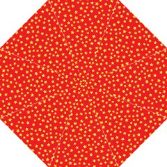 Yellow Stars Red Background Straight Umbrellas by Sapixe