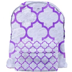 Tile1 White Marble & Purple Watercolor (r) Giant Full Print Backpack