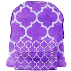 Tile1 White Marble & Purple Watercolor Giant Full Print Backpack