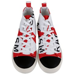No Racism Men s Mid Top Canvas Sneakers