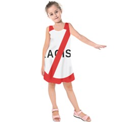 2000px No Racism Svg Kids  Sleeveless Dress by demongstore