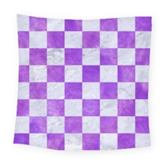 Square1 White Marble & Purple Watercolor Square Tapestry (large) by trendistuff