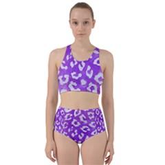 Skin5 White Marble & Purple Watercolor (r) Racer Back Bikini Set