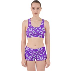 Skin5 White Marble & Purple Watercolor (r) Work It Out Gym Set