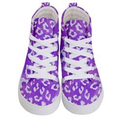 Skin5 White Marble & Purple Watercolor (r) Kid s Hi Top Skate Sneakers