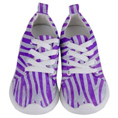 Skin4 White Marble & Purple Watercolor Kids  Lightweight Sports Shoes
