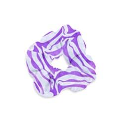 Skin2 White Marble & Purple Watercolor (r) Velvet Scrunchie