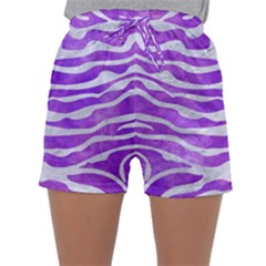 Skin2 White Marble & Purple Watercolor Sleepwear Shorts