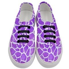 Skin1 White Marble & Purple Watercolor (r) Women s Classic Low Top Sneakers