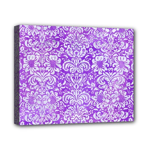 Damask2 White Marble & Purple Watercolor Canvas 10  X 8  by trendistuff