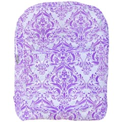 Damask1 White Marble & Purple Watercolor (r) Full Print Backpack