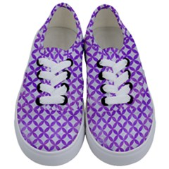 Circles3 White Marble & Purple Watercolor (r) Kids  Classic Low Top Sneakers