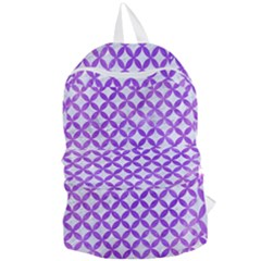 Circles3 White Marble & Purple Watercolor (r) Foldable Lightweight Backpack