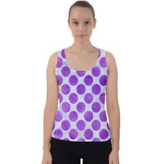 Circles2 White Marble & Purple Watercolor (r) Velvet Tank Top