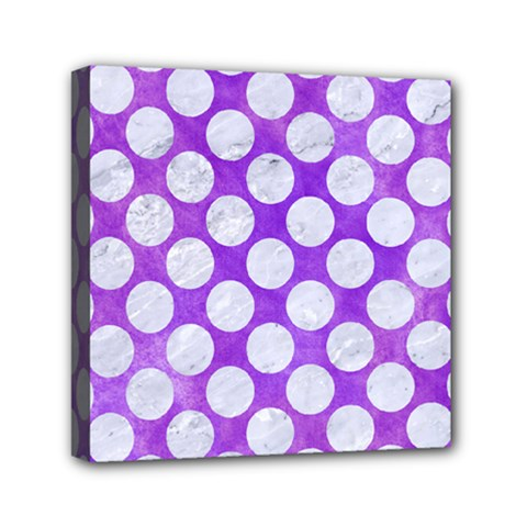 Circles2 White Marble & Purple Watercolor Canvas Travel Bag by trendistuff